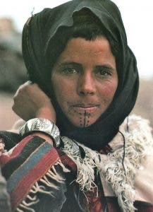 Moroccan Amazigh woman in the High Atlas Mountains by Philippe Lafond, 1982.